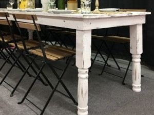 White Harvest Table with Tuscany Chairs